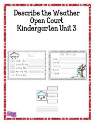Describe The Weather Open Court Kindergarten Unit 3 By My Deb Can