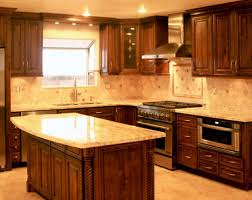 Southwestern Kitchen Cabinets Kitchen Kitchen Color Ideas With Oak Cabinets And Black