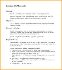 Business Brief Example Creative Brief Template Pdf Creative Brief Example Elegant Marketing