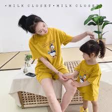 Sét bộ mẹ và bé in hình vịt Donal đáng yêu SMB01 kèm ảnh thật Jemi Store
