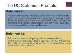 uc personal statement prompt   examples   attorney letterheads