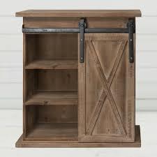 Wood Barn Door Storage Cabinet Antique Farmhouse