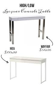 low console table. Time To High/Low: Console Tables Low Table L