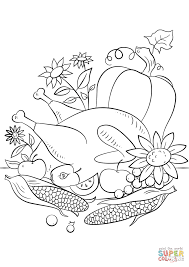 Small Picture Thanksgiving Food coloring page Free Printable Coloring Pages