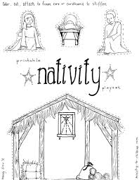 Small Picture Coloring Pages Kids Color Pages Manger Scene Nativity Story