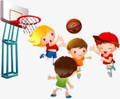 playing cartoon kids playing basketball child basketball game png image and