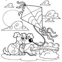Small Picture Kite Coloring Pages Surfnetkids