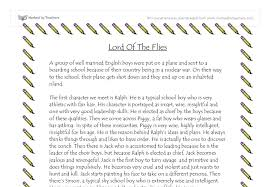 good thesis for lord of the flies paper lord of the flies thesis statements and essay topics paperstarter