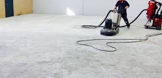 rule number one when grinding concrete floors is to make sure you have a good dust collection strategy if you don t be prepared for grey baby powder all