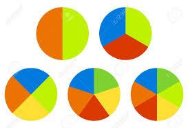 Set Pie Charts Graphs In 2 3 4 5 6 Segments Segmented Circles
