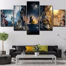 <b>5 Pieces Movie</b> Beauty And The Beast Poster Modern Wall Art Decor ...