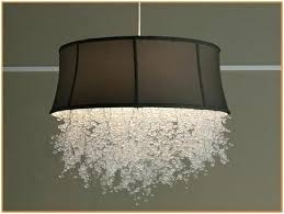 large white drum shade chandelier pianotastings chandeliers with drum shades