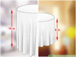 image titled choose a tablecloth size step 1