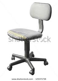 old office chair. shabby old office chair isolated on a white background