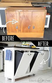 repurposed furniture for kids. Unique Diy Furniture. Furniture Hacks Garage Sale Cabinet Into Kitchen Stand Cool Ideas Repurposed For Kids