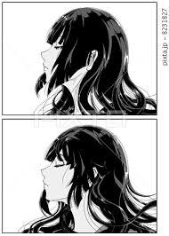 モノクロアニメ風のイラスト素材 Pixta
