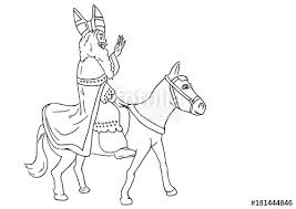 Sinterklaas Op Zijn Paart Stock Image And Royalty Free Vector Files