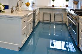 Epoxy Kitchen Floor Kitchen Casual Stools Closed Nice Counter Plus Double Sink Under