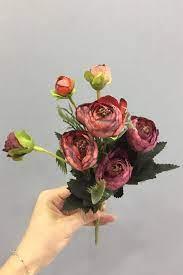 Kırmızı Yapay Şakayık Çiçek