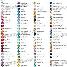 Rhinestones Color Chart_wholesale Hotfix Rhinestone Crystals