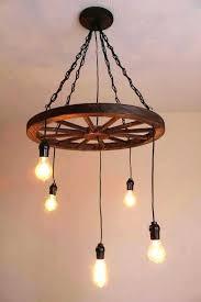 wagon wheel chandelier diy incredible wagon wheel chandelier