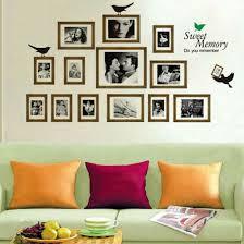 black photo frames wall art decal