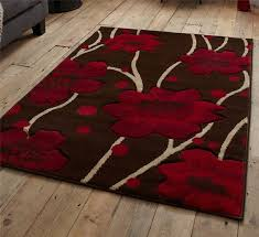 brown and red rug stunning fl flower pattern large rug