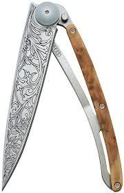 <b>Deejo</b> pocket <b>knife TATTOO ART</b> NOUVEAU, Liner Lock, juniper ...
