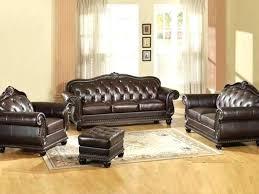 brown sofa dark leather ac decor ideas living room with blue rug