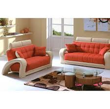 Red And Beige Living Room 1546 2 Pcs Living Room Set Sofa And Loveseat In Orange And