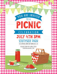 Summer Picnic Invitation Template Stock Vector Art & More Images Of ...