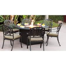 fire pit dining table. Lebanon 7 Piece Dining Set With Cushions And Fire Pit Table Wayfair