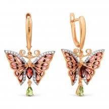 <b>Серьги</b> в стиле «<b>Бабочки</b>» из золота <b>Хризолит</b>, по ценам от ...