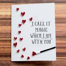 diy birthday cards for boyfriend greeting card i call it magic when i am with you