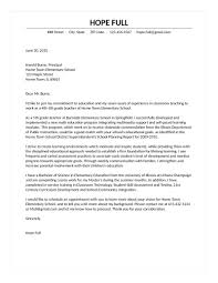 Education Cover Letters template Teaching Cover Letter Template 71