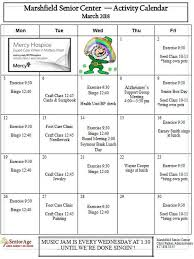 Event Calendar - Marshfield Senior Center, Marshfield, Mo