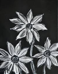 painting black and white black and white painting black and white posies by acrylic painting black painting black and white