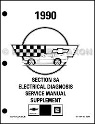 1988 1990 chevrolet corvette service manuals on cd rom 1990 chevy corvette electrical diagnosis manual factory reprint