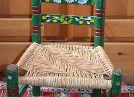 painted mexican furnitureChilds Chair Vintage Mexican Rush Seat Hand Painted Made In
