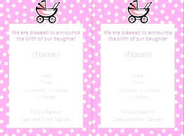 Baby Girl Birth Announcements Template Free Free Birth Announcements Baby Girl Announcement Flyer Template