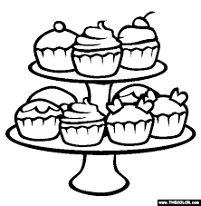 Small Picture Cupcakes Coloring Page Free Cupcakes Online Coloring