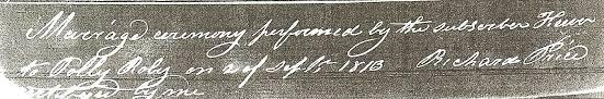 1813 January 5 Jan Edward Chambers and Sarah Cranlet 12 Jan George Woods  and Sarah Taylor 12 Jan William Stephens and Hanah Vanhorn 13 Jan Bezodel  Morris and Modelena Heming 14 Jan Abraham Jamison and Betsy Harris 14 Jan  William ...
