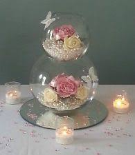 STUNNING DOUBLE BUBBLE BALL/ FISH BOWL WEDDING CENTREPIECES FOR HIRE from  15  Fishbowl CenterpieceBowl CenterpiecesCenterpiece IdeasCenterpieces ...