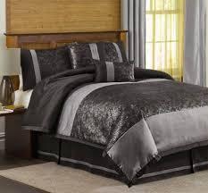 black silver bedding sets