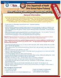 school nurses human trafficking protocol page 1 front