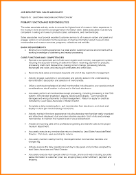 Endearing Sales Associate Job Description Resume Sample In Sample
