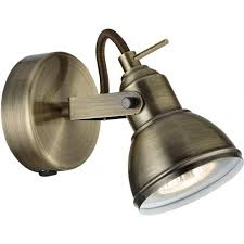 searchlight lighting focus switched single light spotlight fixture in antique brass lighting type from castlegate lights uk