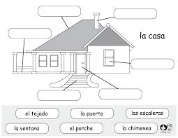 spanish printable worksheet house | Spanish Worksheets for ...