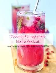 coconut pomegranate mojito mocktail