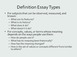 definition ppt video online definition essay types